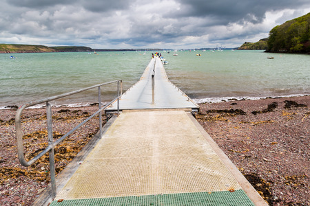 cymru: Jetty at Dale  a small village on the Pembrokeshire coast of West Wales UK Europe