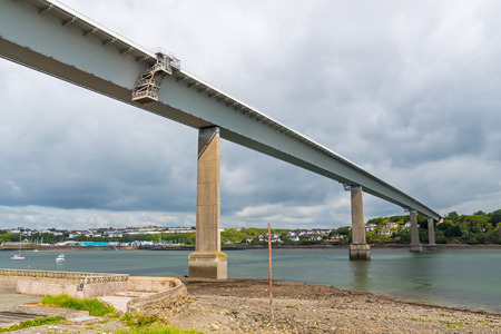 span: The Cleddau Bridge which that spans the River Cleddau between Neyland and Pembroke Dock, Wales UK