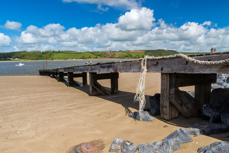 Ferryside at the mouth of the River Tywi, Carmarthenshire Wales UK Europe