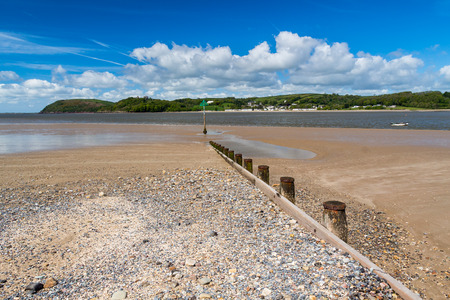 cymru: Ferryside at the mouth of the River Tywi, Carmarthenshire Wales UK Europe