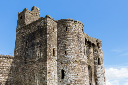 norman castle: Remains of the Norman Kidwelly Castle Carmarthenshire Wales UK Europe Stock Photo