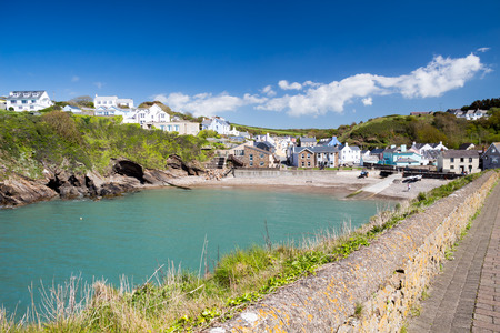 cymru: Little Haven a  quaint  fishing village in the Pembrokeshire Coast National Park Wales UK