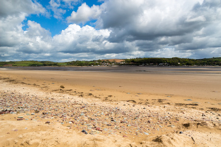 cymru: Llansteffan a village located on the  River Tywi estuary Carmarthenshire Wales UK