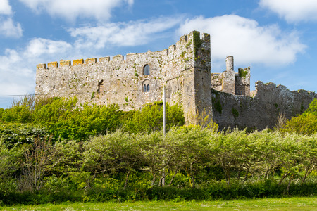 norman castle: The Norman Manorbier Castle West Wales UK Europe