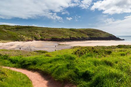 pembrokeshire: Path to Manorbier Beach Pembrokeshire,  Wales UK Europe Stock Photo