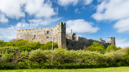 thomas stone: The Norman Manorbier Castle West Wales UK Europe