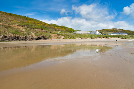 pembrokeshire: Beautiful sandy beach at Nolton Haven  on the Pembrokeshire coast of Wales UK Europe Stock Photo