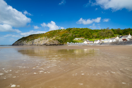 cymru: Pendine Sands  a 7 mile length of beach on the shores of Carmarthen Bay Wales UK Europe
