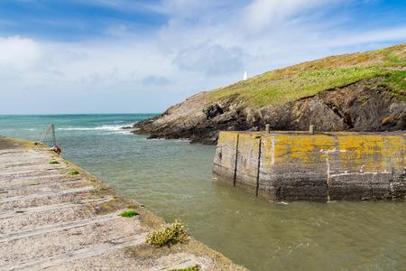 pembrokeshire: Porthgain Harbour Pembrokeshire Wales UK Europe Stock Photo