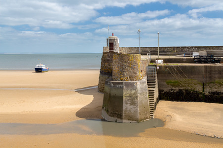 pembrokeshire: Saundersfoot Harbour entrance Pembrokeshire Wales UK Europe