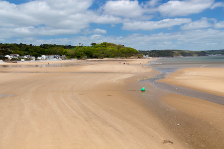 View along Saundersfoot Beach Pembrokeshire Wales UK Europe