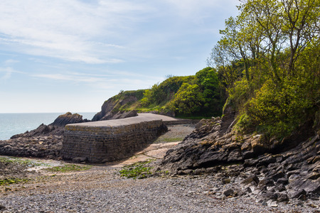 pembrokeshire: The tiny harbour at Stackpole Quay Pembrokeshire Wales UK Europe