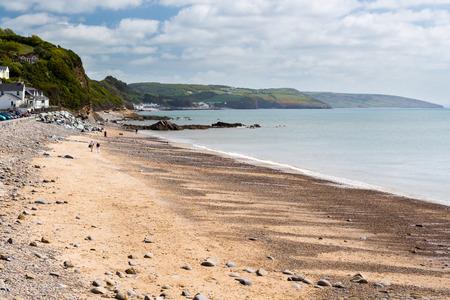 pembrokeshire: The broad sandy beach at Wisemans Bridge on the Pembrokeshire Coast Wales UK Europe
