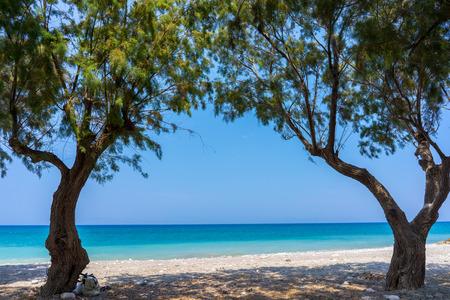dodecanese: Soroni Beach on the Aegean coast of Rhodes Island Dodecanese Greece Europe Stock Photo