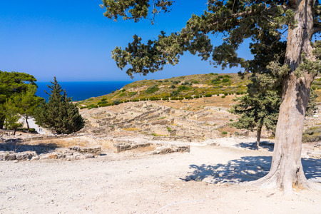 dodecanese: The remains of Ancient Kamiros on the Aegean coast of Rhodes, Dodecanese Greece Europe