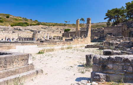 doric: Doric Temple at  Ancient Kamiros on the Aegean coast of Rhodes, Dodecanese Greece Europe