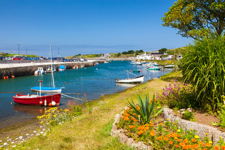 boast: The historic harbour at Hayle on the North Coast of Cornwall England UK Europe Stock Photo