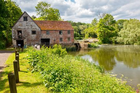 The historic Sturminster Newton Mill Dorset England UK Europe Banco de Imagens