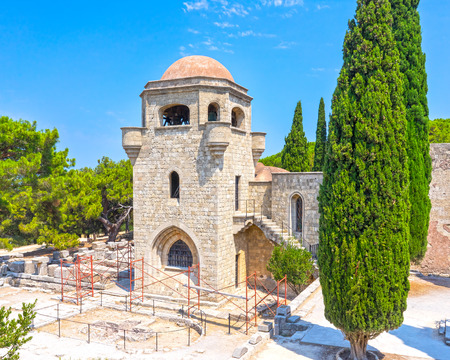 dodecanese: The 15th century Monastery of Filerimos Rhodes Dodecanese Greece Europe