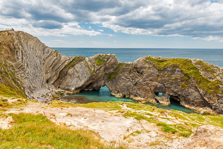 cove: Stair Hole cove and rock arches near Lulworth Cove Dorset Dorset England UK Europe