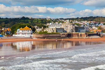 OverlookingPaignton Beach from the pier Devon England UK Europe