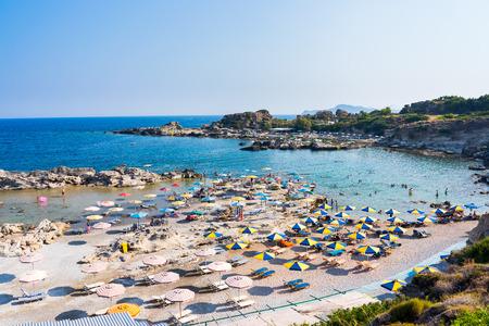 dodecanese: Overlooking Tassos Beach near Faliraki Rhodes Dodecanese Greece Europe