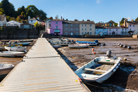 jamones: The picturesque village of Dittisham on the River Dart South Hams Devon England UK Europe