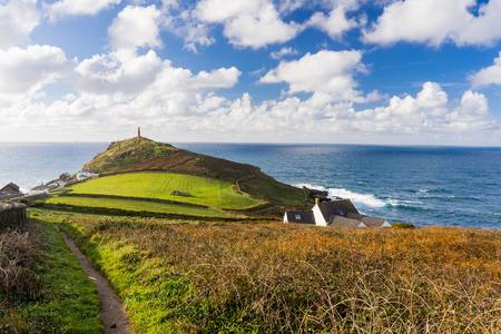 headland: The headland at Cape Cornwall the site of a former Tin Mine near St Just England UK Europe