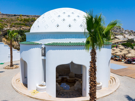 pietro: The beautiful buildings at Kalithea Springs designed by Pietro Lombardi in the 1930s, Rhodes Island Greece Europe