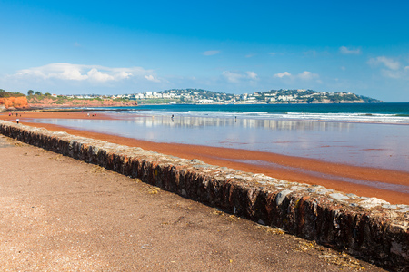 south west england: Red sandy beach at Preston Sands Paignton Torbay Devon England UK Europe