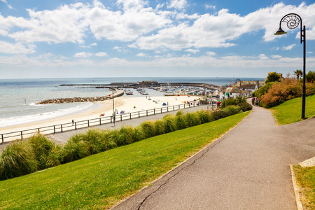 lyme: Views from Langmoor and Lister Gardens Lyme Regis Dorset England UK Europe Stock Photo