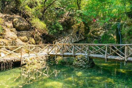 De Vallei van de Vlinders (Peta Loudhes) Rhodos Griekenland Europa Stockfoto