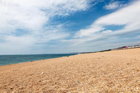 shingle beach: The shingle beach at West Bexington Dorset England UK Europe Stock Photo