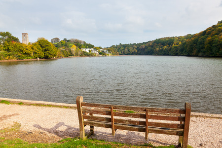 gabriel: The tidal Mill Pond at Stoke Gabriel in the South Hams Devon England UK Europe Stock Photo