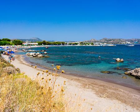 dodecanese: Overlooking Kathara Beach Faliraki Rhodes Dodecanese Greece Europe