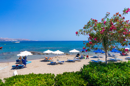 Overlooking Kathara Beach Faliraki Rhodes Dodecanese Greece Europe
