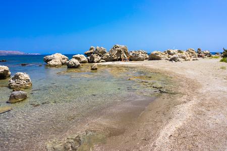 dodecanese: Kathara Beach Faliraki Rhodes Dodecanese Greece Europe Stock Photo