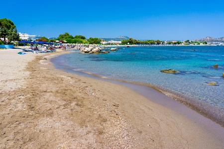 Kathara Beach Faliraki Rhodes Dodecanese Greece Europe 版權商用圖片