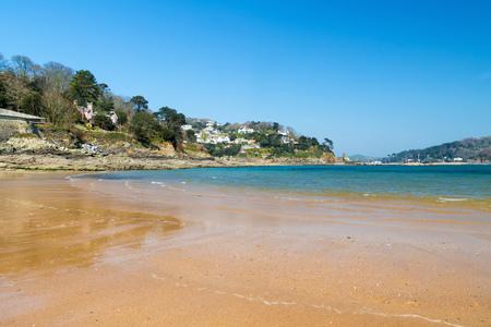 jamones: playa de arena dorada en el South Sands Salcombe South Hams Devon Inglaterra Reino Unido Europa Foto de archivo