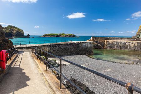 mounts: Historic harbour at Mullion Cove in Mounts Bay  Cornwall England UK Europe