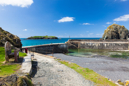 Historic harbour at Mullion Cove in Mounts Bay  Cornwall England UK Europe