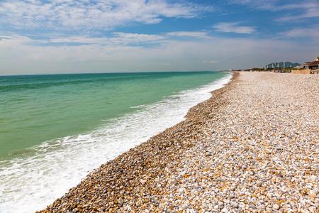 shingle beach: Shingle beach at Bracklesham Bay on the Manhood Peninsula in West Sussex, England UK Europe