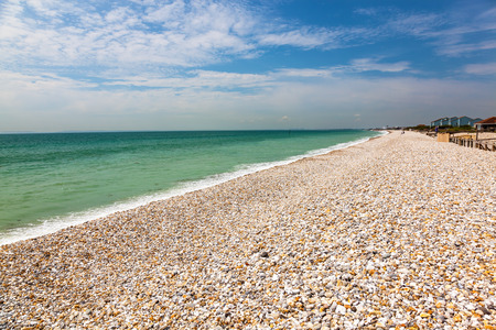 manhood: Shingle beach at Bracklesham Bay on the Manhood Peninsula in West Sussex, England UK Europe
