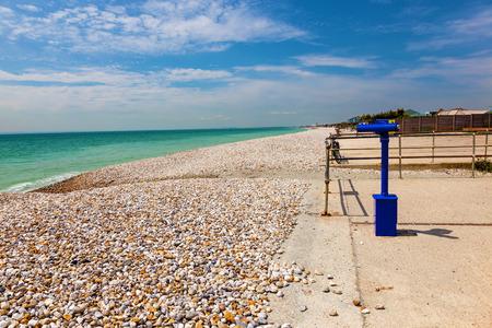 Shingle beach at Bracklesham Bay on the Manhood Peninsula in West Sussex, England UK Europe