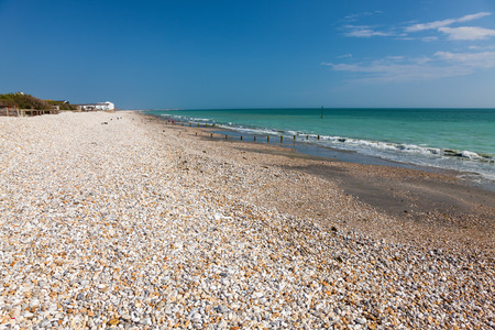 shingle: Shingle beach at Bracklesham Bay on the Manhood Peninsula in West Sussex, England UK Europe