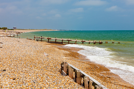 shingle beach: Climping Beach or Atherington a Shingle beach near Littlehampton  West Sussex England UK Europe Stock Photo