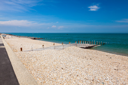 selsey: The shingle beach at Selsey Bill West Sussex England UK Europe