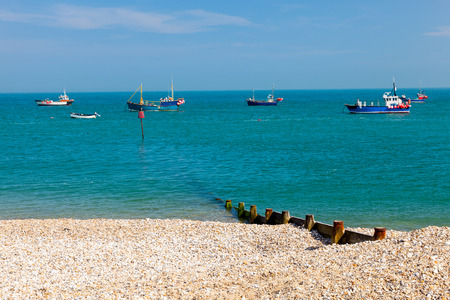 west sussex: The shingle beach at Selsey Bill West Sussex England UK Europe