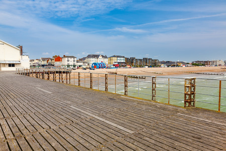 west sussex: View from the Pier at Bognor Regis West Sussex England Stock Photo