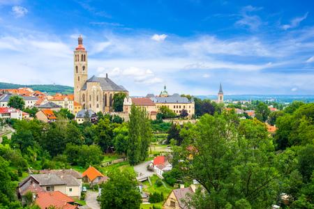 クトナー ・ ホラ、チェコ共和国ヨーロッパで市街を見下ろす
